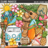 "Tropical Beach Summer Clip Art: ""Island Paradise"""