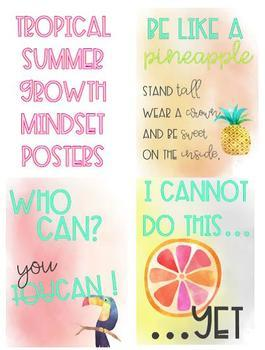 Tropical Summer Mindset Posters