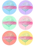 Supply Labels - Tropical Themed