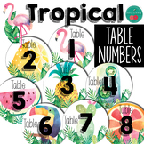 Tropical Table Numbers EDITABLE