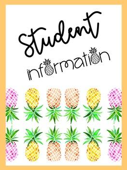 Tropical Teacher Binder {Editable}