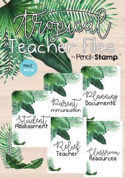 Tropical Teacher File Covers