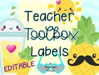 Tropical Teacher Toolbox Labels~Be A Pineapple!