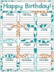 Tropical Teal Birthday Posters