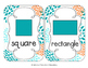 Tropical Teal Blossoms Shape Cards