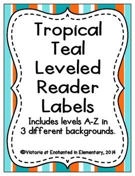 Tropical Teal Leveled Reader Labels