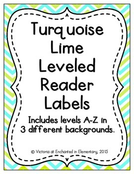 Turquoise Lime Leveled Reader Labels