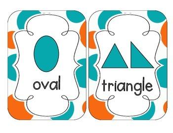 Tropical Teal Polka Dots Shape Cards