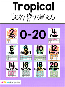Tropical Ten Frames 1-20