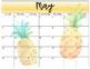 Tropical Theme 2018-2019 School Calendar - EDITABLE