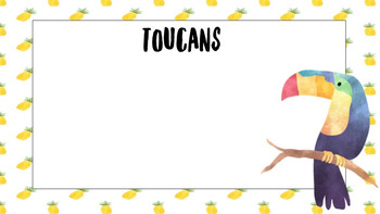 Tropical Theme A4 Labels Editable