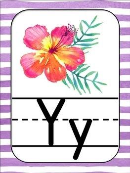Tropical Theme Alphabet Posters