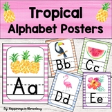 Tropical Theme Alphabet Posters