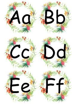 Tropical Alphabet Wall Header
