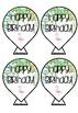 Tropical Birthday Balloons