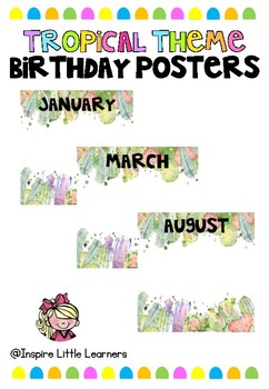 Tropical Birthday Poster Display