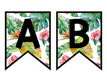 Tropical Theme Bulletin Board Bunting Letters Pack