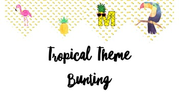 Tropical Theme Bunting