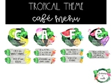 Tropical Theme Cafe Menu Display