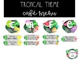 Tropical Theme Cafe Menu Display