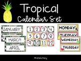 Tropical Theme Calendar Decor