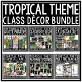 Tropical Classroom Decor Editable: Beach Theme Classroom Decor, Tropical Theme