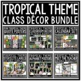 Modern Tropical Beach Theme Classroom Decor Bundle: Editab