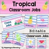 Tropical Theme Class Jobs - Editable