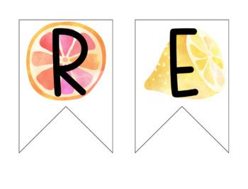Tropical Theme Classroom Banners - EDITABLE