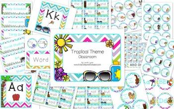 Tropical Theme Classroom Decor