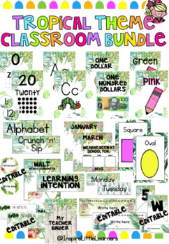 Tropical Classroom Decor (Growing Bundle)