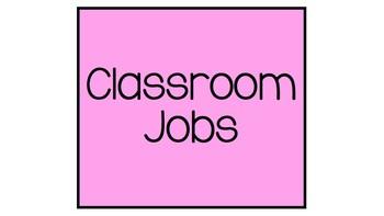 Tropical Theme Classroom Job Chart
