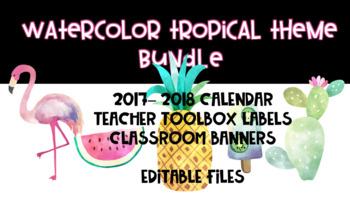 Tropical Theme Classroom Product Bundle