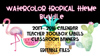 Tropical Theme Classroom Product Bundle