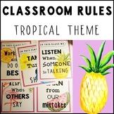 Tropical Theme Classroom Rules (Tropical Decor)