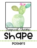 Tropical Theme Classroom Shape Posters
