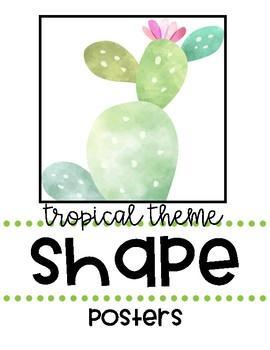 Tropical Theme Classroom Shape Posters