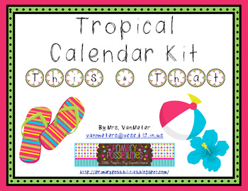 Tropical Theme Classroom Kit