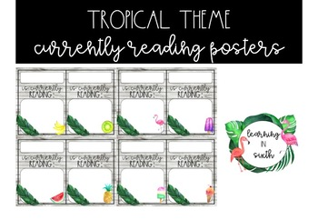 Tropical Theme Currently Reading Posters