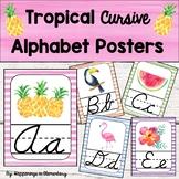 Tropical Theme Cursive Alphabet Posters