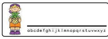 Tropical Theme Desk Nameplates (Set of Four)