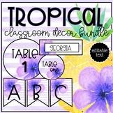 Tropical Theme EDITABLE Classroom Decor BUNDLE