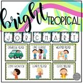 Tropical Theme EDITABLE Job Chart