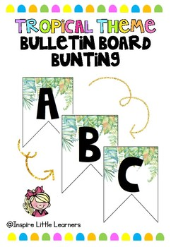 Tropical Alphabetical Bunting