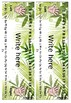Tropical Editable Classroom Desk Labels