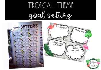 Tropical Theme Goal Getters Display