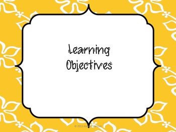 Tropical Theme Learning Objectives Posters