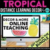 Tropical Theme | Online Teaching Backdrop | Google Classro