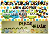 Tropical Theme Place Value Display (with decimals)