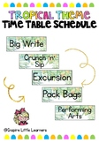 Tropical Schedule Cards (Editable)
